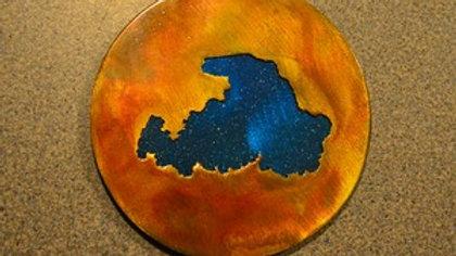 Drummond Island Rustic Copper Coaster