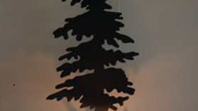 Pine Tree Candle Holder