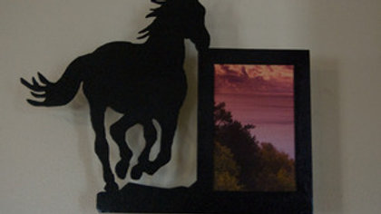 4 x 6 Running Horse Vertical Wall Picture Frame