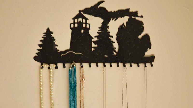 Michigan & Lighthouse Jewelry Holder