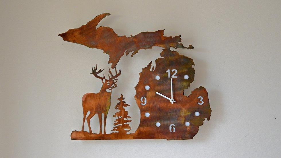 Michigan and Buck Clock