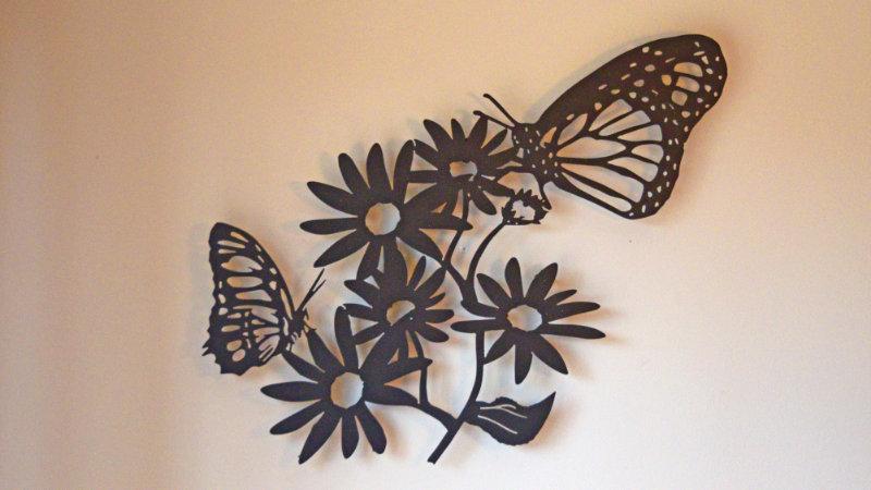 Butterflies on Black eyed Susan wall art