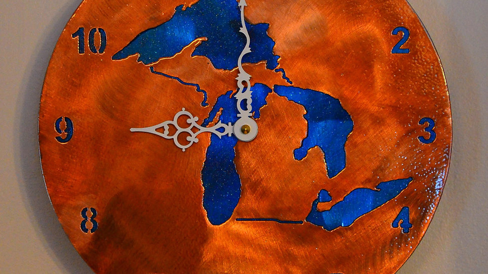 Great Lakes Copper Patina Clock