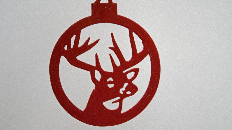 White tail buck ornament