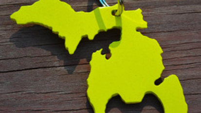 Michigan Yellow Keychain Bottle Opener