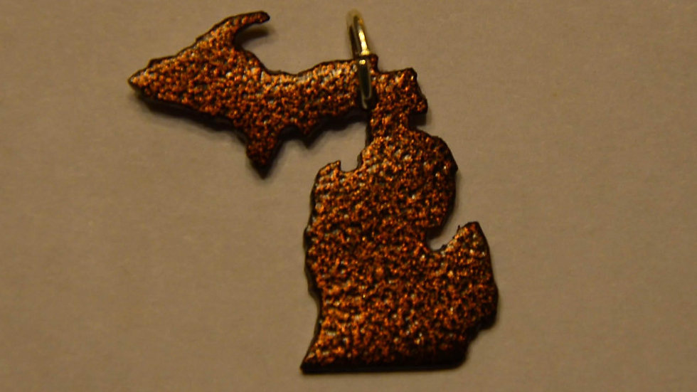 Michigan Copper Vein Pendant