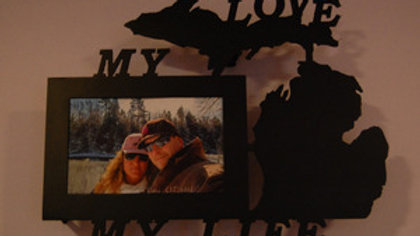 "4 x 6 ""My Love"" Michigan Wall Picture Frame"