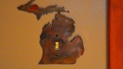 Michigan Single-Toggle Rustic Copper Switch Plate