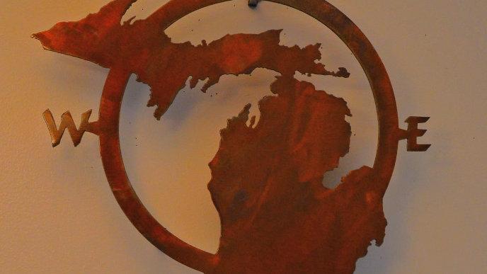 Michigan Compass Wall Hanging
