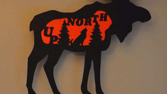"""""""Up North"""" Moose Wall Hanging"""