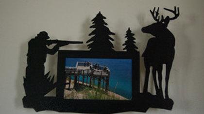 4 x 6 Deer Hunter Wall Picture Hang