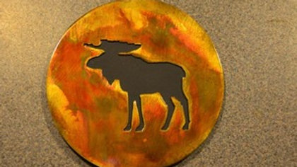 Moose Rustic Copper Coaster