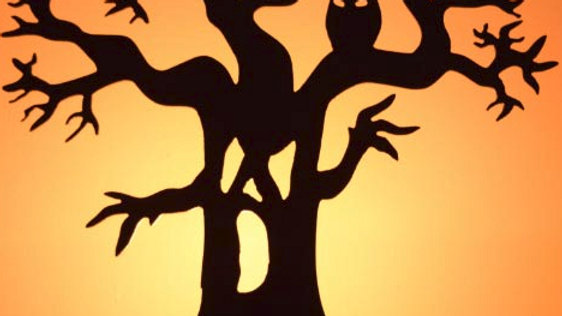Scary Tree Tea Light Holder