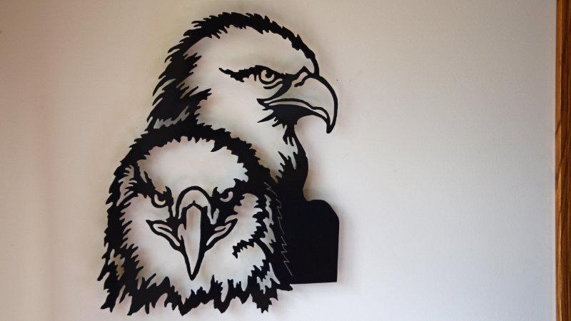 Dual Eagles Wall Hanging