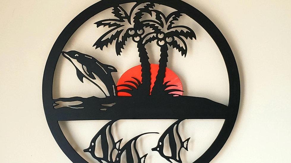 Circular Tropical scene