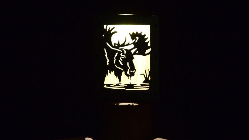 "Moose solar light box 9"" x 7"""