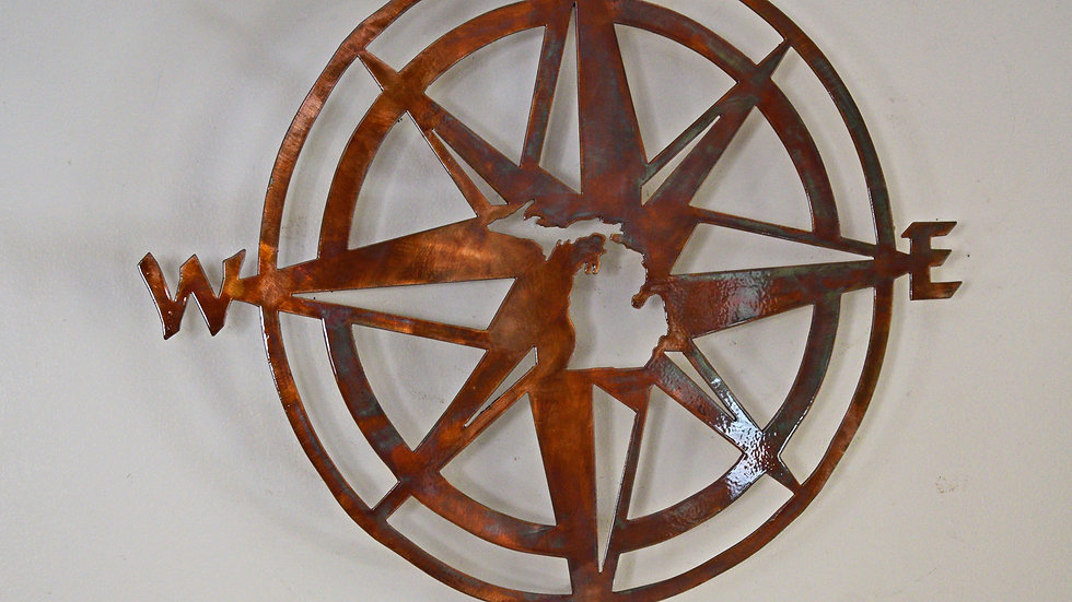Nautical Michigan Compass Wall Hanging