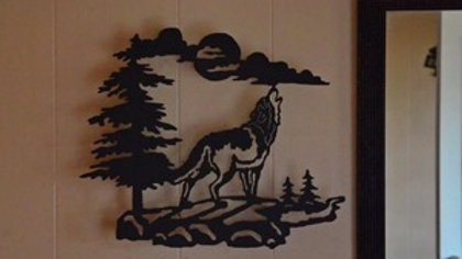 Howling Wolf Wall Hanging