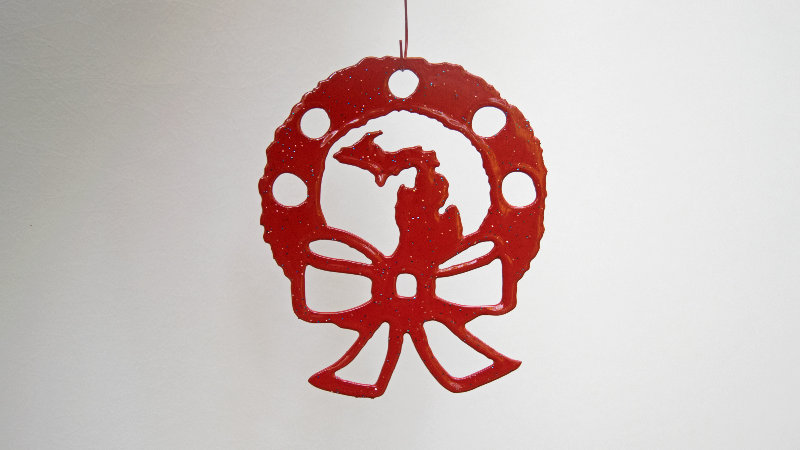Michigan wreath ornament