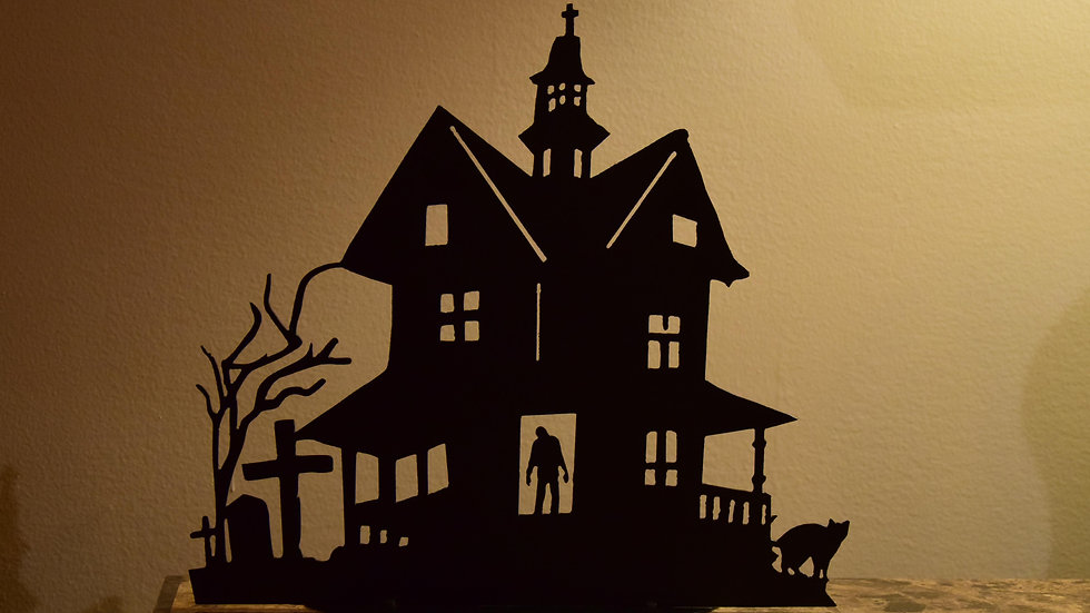 Haunted House Tea Light Holder