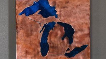 Michigan Blue Lakes Wall Hanging