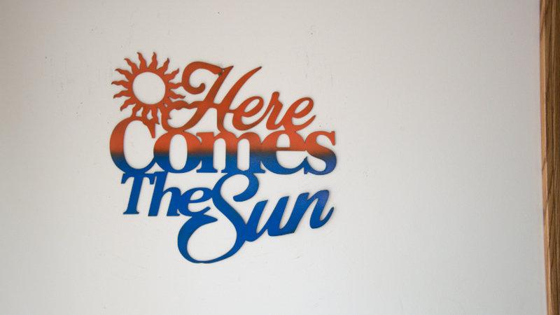 Here comes the sun wall hang