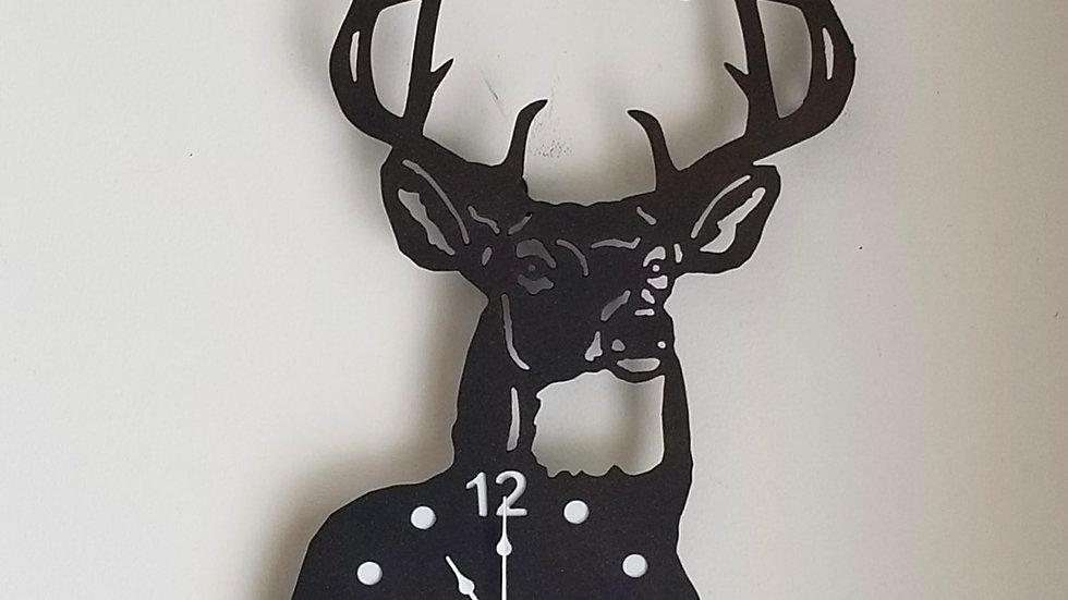 White tail buck clock