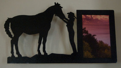 4 x 6 Cowgirl and Horse Wall Picture Frame