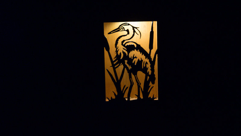 "Heron solar light box 12"" x 9"""