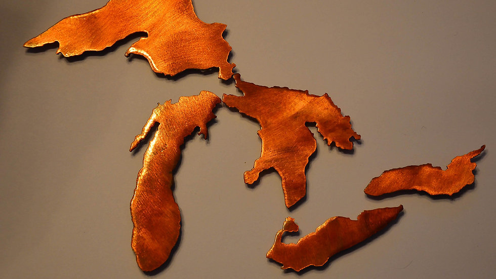 Great Lakes Copper Patina Set of Magnets