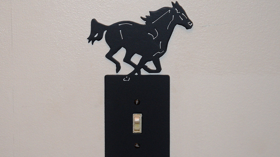 Running Horse Single-Toggle Switch Plate
