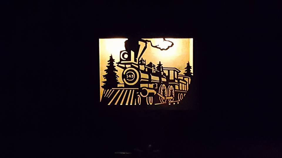 "Locomotive -large solar double light 16"" x 12"""