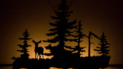 Deer in the Woods Candle Holder