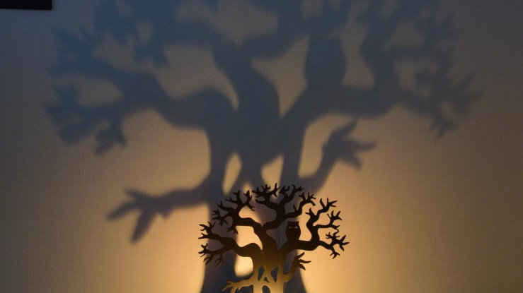 Scary Tree ShadowCaster Tea Light Holder
