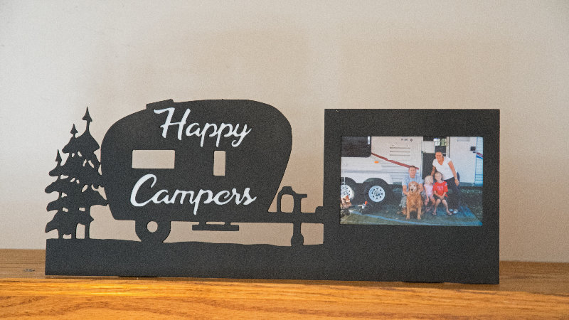 "Happy Camper 4"" x 6"" desktop frame art"