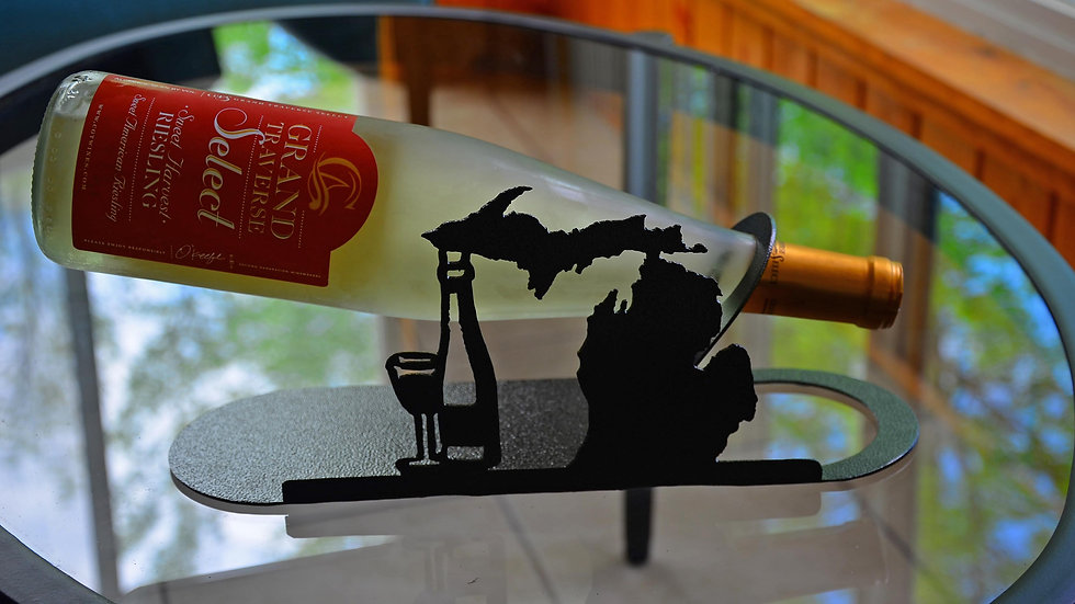 Michigan Wine Bottle Holder
