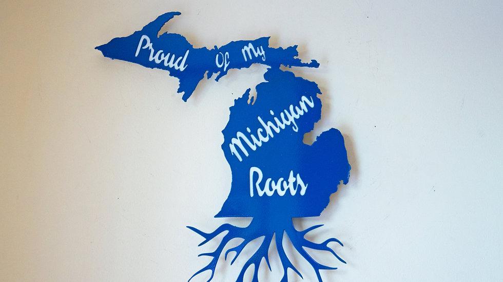 Michigan roots wall hang