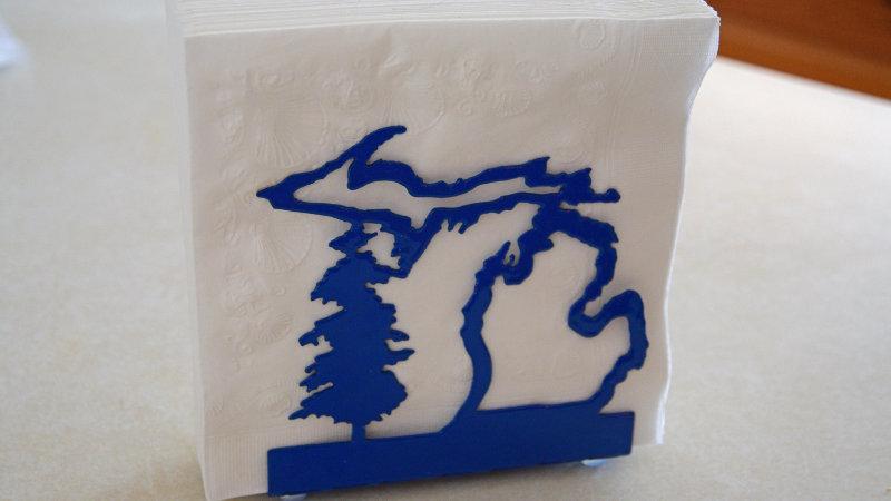 Michigan napkin holder
