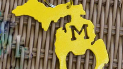 "Michigan ""M"" Keychain Bottle Opener"