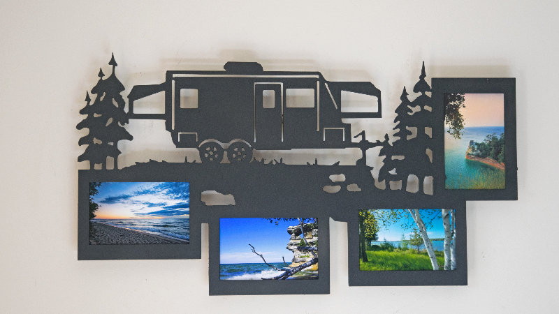 Hybrid camper 4 photo picture frame-wall mount