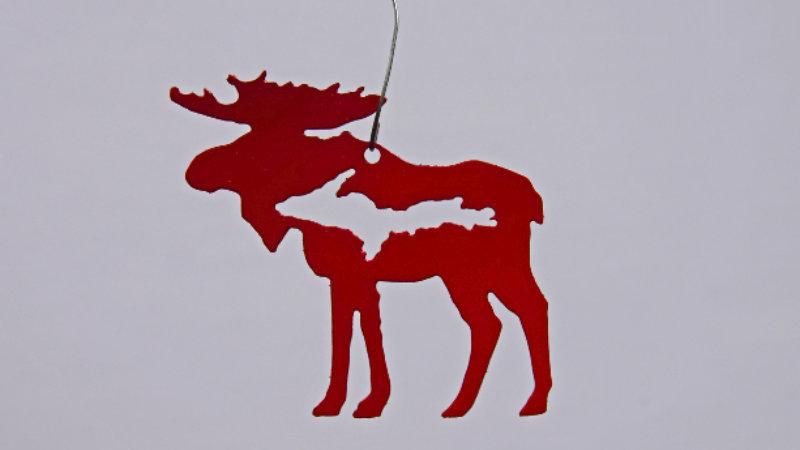 Upper Peninsula Moose Ornament