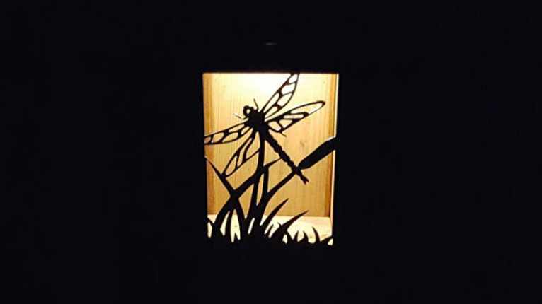 "Dragonfly solar light box  9"" x 7"""