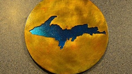 Upper Peninsula Rustic Copper Coaster