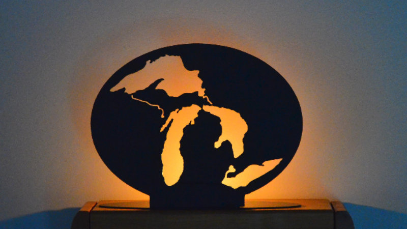 Great Lakes Oval Candle Holder