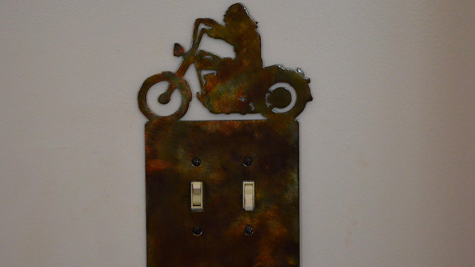 Harley Rider Double-Toggle Switch Plate
