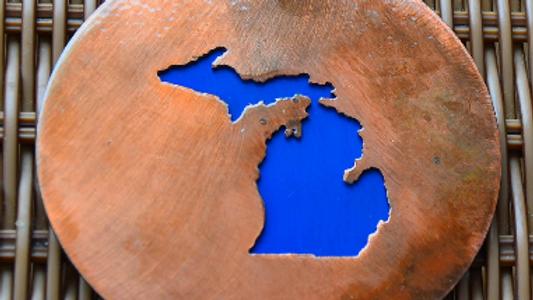 Michigan Copper Patina Coaster