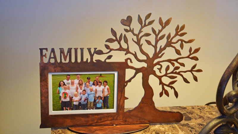 """Family tree 4""""x 6"""" tabletop picture frame"""