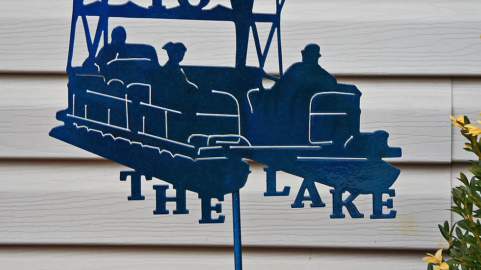 """Welcome to the Lake"" Pontoon Garden Stake"