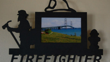 """4 x 6 """"Firefighter"""" Fireman Wall Picture Frame"""