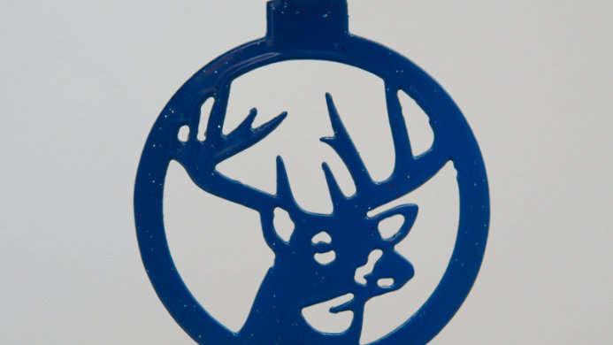 White tail buck ornament
